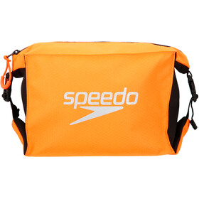 speedo Pool Side Bag Set, Large, black/fluo orange